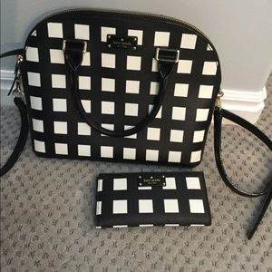 Kate Spade Black and White Purse and Wallet